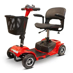 EWHEW-M34-RED - EWheels - Medical (EW-M34) 4-Wheel Portable Travel Scooter, Red
