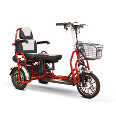 EWHEW-02_RD - EWheels(EW-02) Folding Heavy Duty Bariatric 3-Wheel Scooter