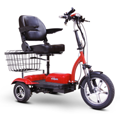 EWHEW-32R - EWheels(EW-32) 3-Wheel Full-Sized Mobility Scooter, Red