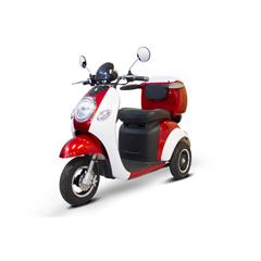 EWHEW-37_ALLRED-WHITEGLOVE - EWheels(EW-37) Vintage 3-Wheel Scooter, Red
