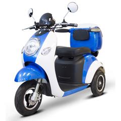 EWHEW-37_BLUE-WHITEGLOVE - EWheels(EW-37) Vintage 3-Wheel Scooter, Blue + White Glove Delivery