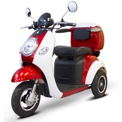 EWHEW-37_RED-WHITEGLOVE - EWheels(EW-37) Vintage 3-Wheel Scooter, Red + White