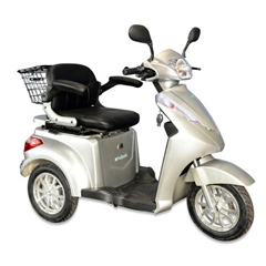 EWHEW-38S-SPORT - EWheels(EW-38) 3-Wheel Heavy Duty Scooter with Sport Hand Brake Lever