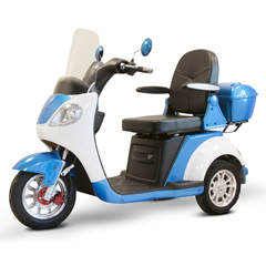 EWHEW-42_B - EWheels(EW-42) 3-Wheel Heavy Duty Scooter, Blue