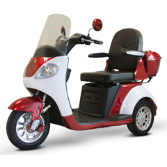 EWHEW-42_RED - EWheels(EW-42) 3-Wheel Heavy Duty Scooter, Red