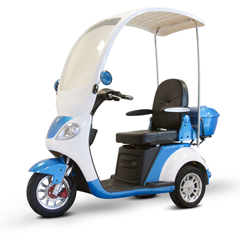EWHEW-44_B - EWheels(EW-44) 3-Wheel Canopy Scooter, Blue
