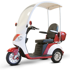 EWHEW-44_R - EWheels(EW-44) 3-Wheel Canopy Scooter, Red