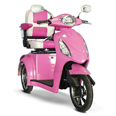 EWHEW-80 - EWheels(EW-80) 3-Wheel Scooter - Pretty in Pink
