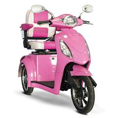 EWHEW-80-WHITEGLOVE - EWheels(EW-80) 3-Wheel Scooter - Pretty in Pink + White Glove Delivery