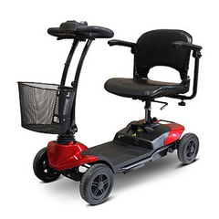 EWHEW-M35-WHITEGLOVE - EWheels(EW-M35) 4-Wheel Lightweight Scooter, Red with White Glove Delivery