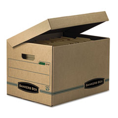 FEL12772 - Bankers Box® STOR/FILE™ Basic Strength Attached Lid Storage Boxes