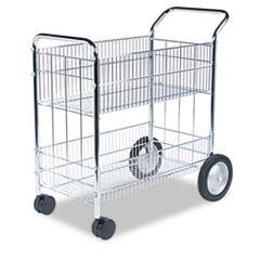 FEL40912 - Fellowes® Wire Mail Cart