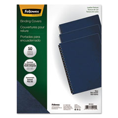 FEL52145 - Fellowes® Executive Leather Textured Vinyl Presentation Covers for Binding Systems