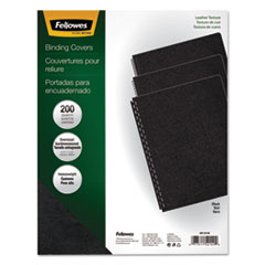 FEL52149 - Fellowes® Executive Leather Textured Vinyl Presentation Covers for Binding Systems