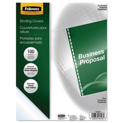 FEL5293401 - Fellowes® Crystals™ Transparent Presentation Covers for Binding Systems