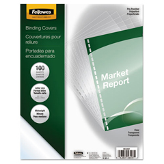 FEL5293701 - Fellowes® Crystals™ Transparent Presentation Covers for Binding Systems