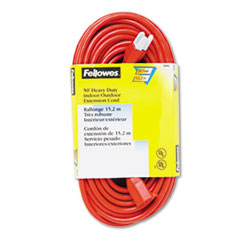 FEL99598 - Fellowes® Indoor/Outdoor Heavy-Duty Extension Cord
