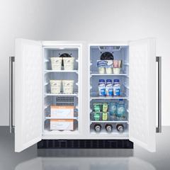 SMAFFRF3075W - Summit ApplianceAll-in-One Side-by-Side Refrigerator Freezer (FFRF3075W)