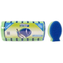 FMTCP201-8 - Foamtec - Dishfish Dual Scrubber Sponge,  8/PK