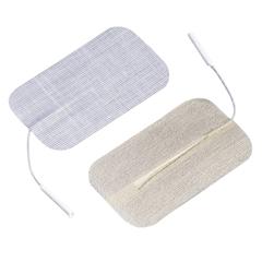 FNT04-2175-10 - Fabrication Enterprises - Dura-Stick® Premium Electrode, 2 x 3.5 Rectangle, Stainless Steel Mesh, 40/Pack