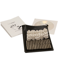 FNT10-0473 - Fabrication Enterprises - Fingerweights Finger Exerciser - 10 Adjustable Weight Set, White