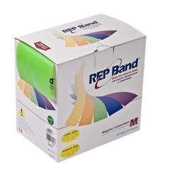 FNT10-1091 - Fabrication Enterprises - Rep Band® Exercise Band - Latex Free - 50 Yard - Lime, Level 3