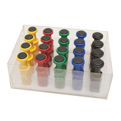FNT10-3758 - Fabrication EnterprisesDigi-Flex Multi® - 20 Additional Finger Buttons w/ Box - 4 Each: Yellow, Red, Green, Blue, Black