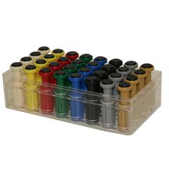 FNT10-3759 - Fabrication EnterprisesDigi-Flex Multi® - 32 Additional Finger Buttons w/ Box - 4 Each: Tan, Yellow, Red, Green, Blue, Black, Silver, Gold