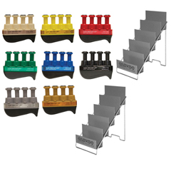 FNT10-3779 - Fabrication Enterprises - Digi-Flex LITE® - Set of 8 (1 Each: Tan, Yellow, Red, Green, Blue, Black, Silver, Gold) with 2 Metal Stands