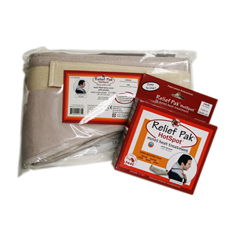 FNT11-1301-12 - Fabrication Enterprises - Relief Pak® Hotspot® Moist Heat Pack and Cover Set - Neck Pack with Terry with Foam-Fill Cover - Case of 12