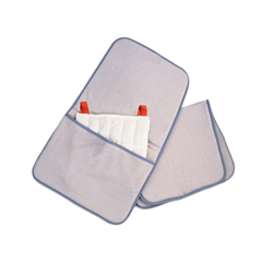 FNT11-1365 - Fabrication Enterprises - Relief Pak® Hotspot® Moist Heat Pack Cover - Terry with Foam-Fill - Oversize with Pocket - 24.5 x 36