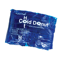 FNT11-1533-12 - Fabrication Enterprises - Relief Pak® Cold n Hot® Donut® Compression Sleeve - Large (For 15 - 21 Circumference), Dozen