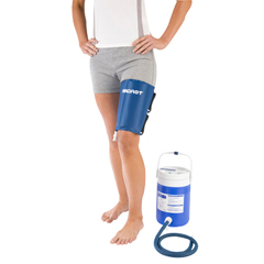 FNT11-1563 - Fabrication Enterprises - AirCast® CryoCuff® - xL Thigh with Gravity Feed Cooler