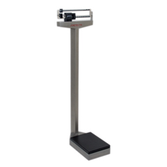 FNT12-1352 - Fabrication Enterprises - Detecto® Eye-Level Scale - 338 Mobile Analog Beam Scale 400 lb. / 175 kg - with Height Rod and Wheels