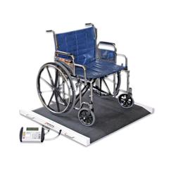 FNT12-1355 - Fabrication Enterprises - Detecto® Bariatric / Wheelchair Scale - 1100 Lb X .5 Lb - 49 X 45 X 8 Footprint