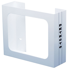 FNT12-2425 - Fabrication Enterprises - Detecto, Glove Box Holder, Wall Mount, 2 Boxes, White