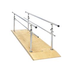 FNT15-4031 - Fabrication Enterprises - Parallel Bars, wood platform, height adjustable, 12 L x 30 W x 26 - 44 H
