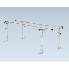 FNT15-4067 - Fabrication Enterprises - Parallel Bars, floor mounted, height and width adjustable, 24 L x 6 W x 26 - 44 H