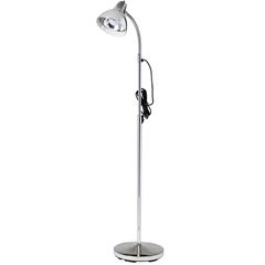 FNT15-4485 - Fabrication Enterprises - Clinton, Gooseneck Lamp, Chrome Finish