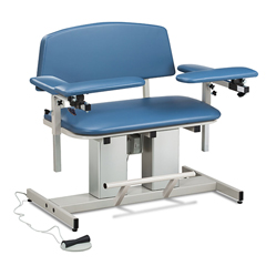 FNT15-4519 - Fabrication Enterprises - Clinton, Power Series Phlebotomy Bariatric Chair, Padded Arms