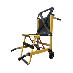 FNT16-1904 - Fabrication Enterprises - Deluxe Heavy Duty Stair Chair-2Wheel-Yellow