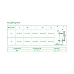 FNT24-2052 - Fabrication Enterprises - ReadyWrap Calf Support, Average, 11.8 (30 cm) Length, Black, Large