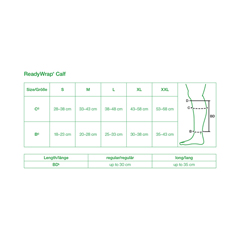 FNT24-2055 - Fabrication Enterprises - ReadyWrap Calf Support, Tall, 13.8 (35 cm) Length, Black, Small