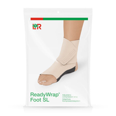 FNT24-2077 - Fabrication Enterprises - ReadyWrap Foot SL, Long, Right Foot, Beige, Small