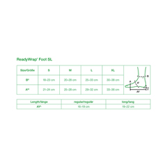 FNT24-2085 - Fabrication Enterprises - ReadyWrap Foot SL, Long, Left Foot, Black, Medium