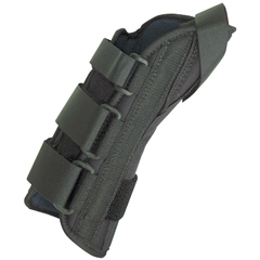 FNT24-4578L - Fabrication Enterprises - 8 Soft Wrist Splint Left, Large 7-9 with Abducted Thumb