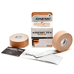 FNT24-4875-12 - Fabrication EnterprisesKinesio® Tape, Tex Gold Fp, 1 x 5.5 Yds, Beige, 6 Pkg of 2 Rolls