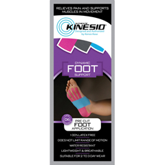 FNT24-4935-20 - Fabrication Enterprises - Kinesio® Tape Pre-Cuts, Foot, 20/Case