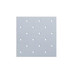 FNT24-5773-1 - Fabrication Enterprises - Orfit® Colors Ns, 18 X 24 X 1/8, Mini-Perforated, Sonic Silver, Metallic