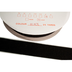 FNT24-7031BLK - Fabrication Enterprises - 2 Self-Adhesive Loop Material, 25 Yard Dispenser Box, Black